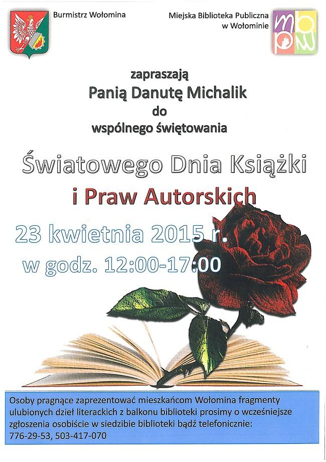 Zaproszenie_Swiatowy dzien ksiazki